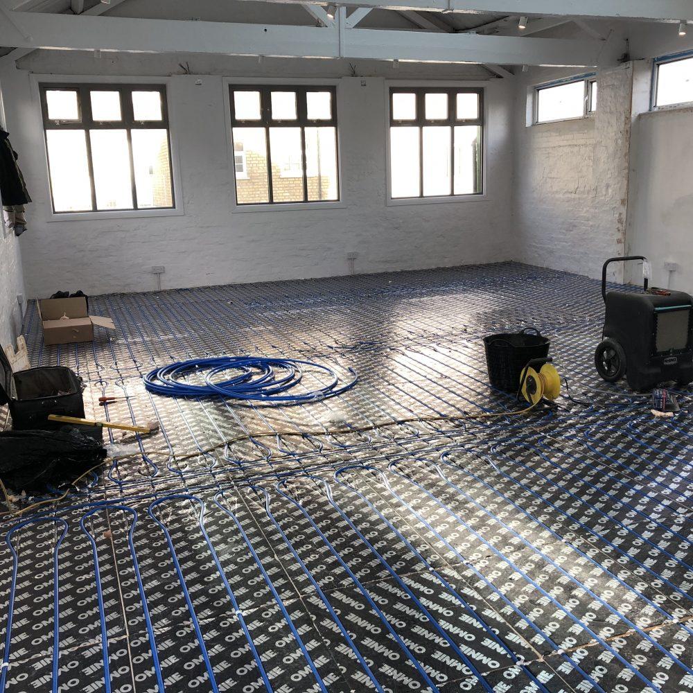 Highly Efficient Wet Underfloor Heating Design and Installation