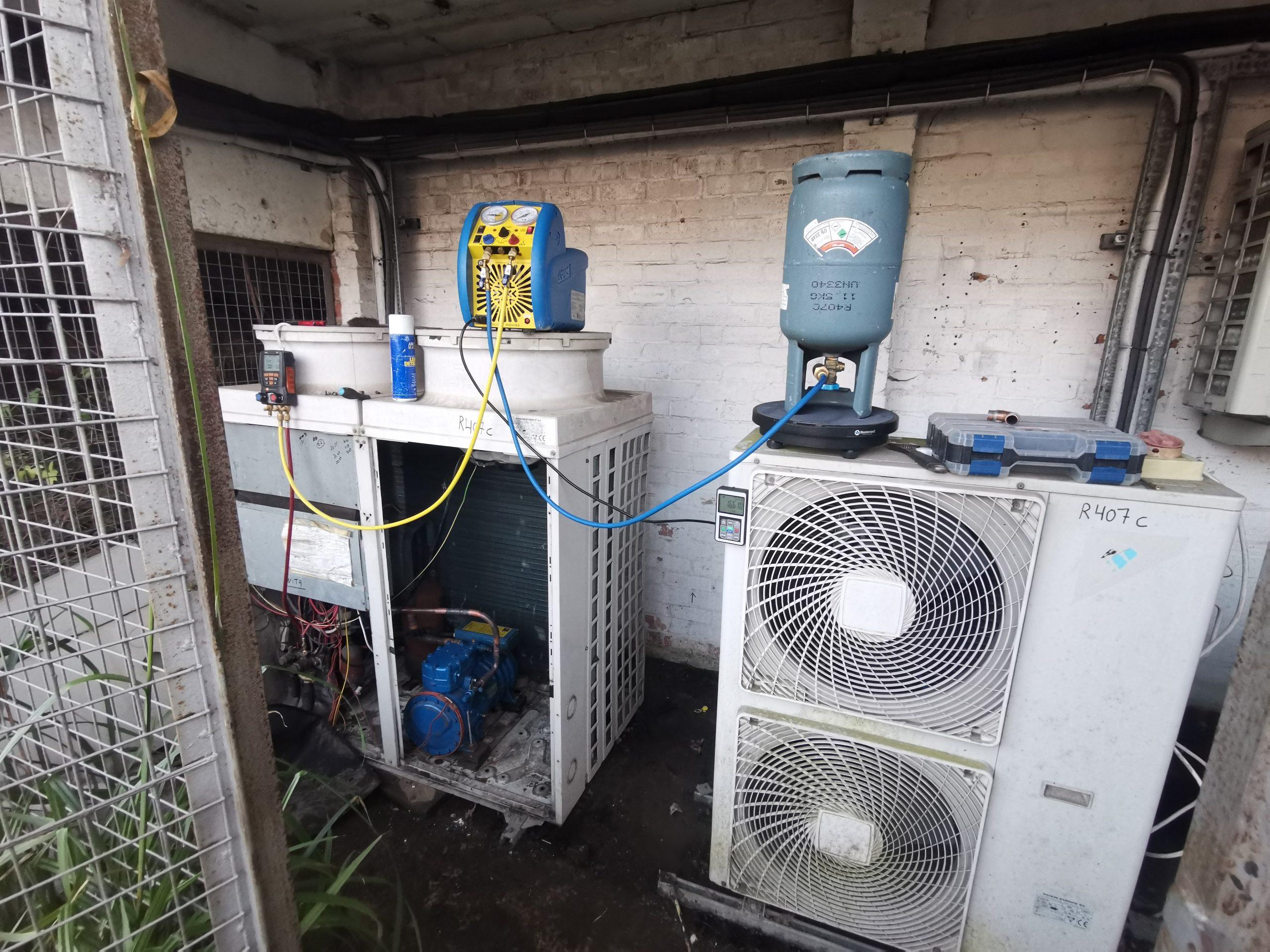 HVAC repair at air conditioning