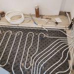 underfloor heating pipework installed